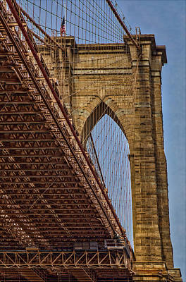 Photograph - Brooklyn Bridge Over And Under by Susan Candelario