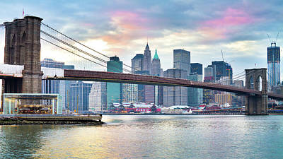 Photograph - Brooklyn Bridge Restoration by Ryan D. Budhu