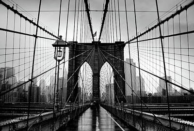 Cityscape Photograph - Brooklyn Bridge by Serhio.com Photography By Sergei Yahchybekov