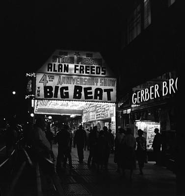 Photograph - Brooklyn Fox Marquee Advertising Alan by Donaldson Collection