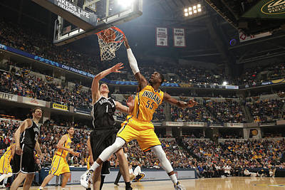 Photograph - Brooklyn Nets V Indiana Pacers by Ron Hoskins
