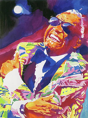Jazz Painting Royalty Free Images - Brother Ray Charles Royalty-Free Image by David Lloyd Glover