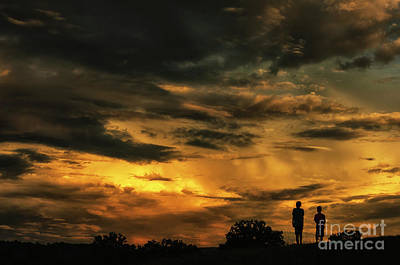 Photograph - Brothers At Sunset by Thomas R Fletcher