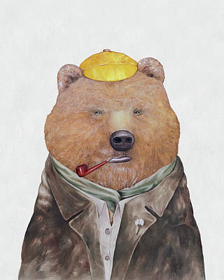Animal Painting - Brown Bear by Animal Crew