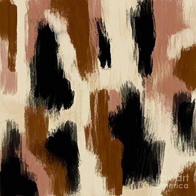 Digital Art - Brown Black And Tan Digital Drag Abstract Painting by Delynn Addams
