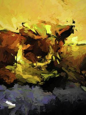 Painting - Brown Cat On The Cushion by Jackie VanO