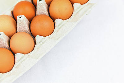 Photograph - Brown Eggs In A Carton by Jeanette Fellows