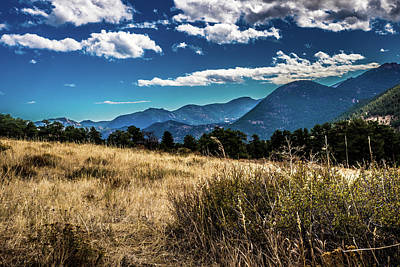 Photograph - Brown Grass And Mountains by James L Bartlett
