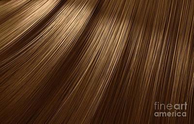 Digital Art - Brown Hair Blowing Closeup by Allan Swart