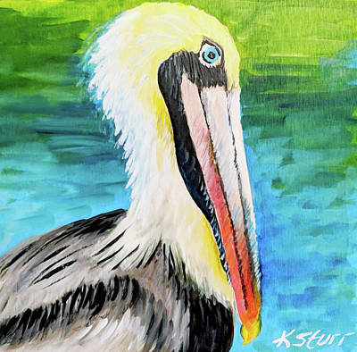 Painting - Brown Pelican by Kathy Sturr