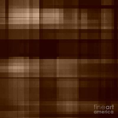 Digital Art - Brown Plaid by Rachel Hannah