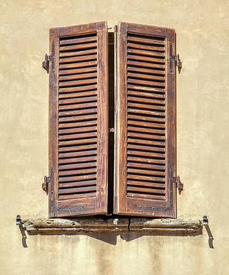 Photograph - Brown Window Of Florence by David Letts