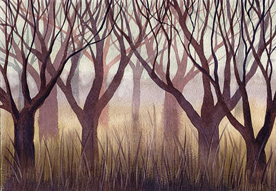 Painting - Brownish Forest by Ina Petrashkevich