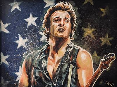 Painting - Bruce Springsteen by Joel Tesch