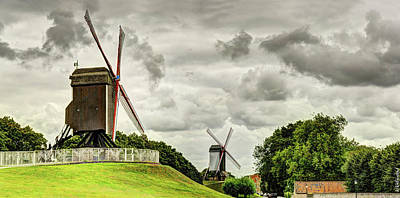 Photograph - Bruges Windmills by Weston Westmoreland
