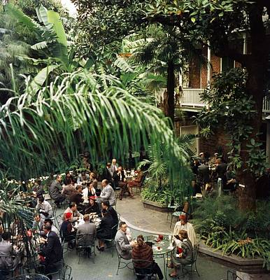 Tree Photograph - Brunch At Brennans by Slim Aarons