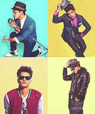 Bling Mixed Media - Sale New Year Bruno Mars 2 by Dee Art