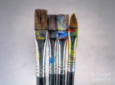 Digital Art - Brushes by Nigel Bangert