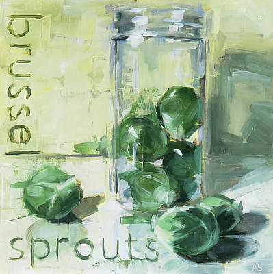 Wall Art - Painting - Brussel Sprouts by Annie Salness