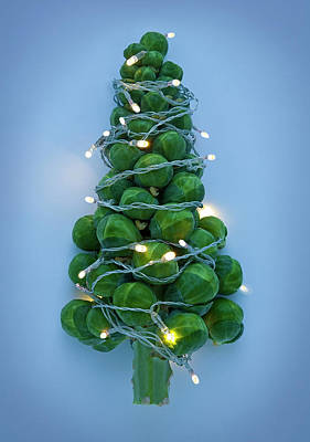 Photograph - Brussel Sprouts Decorated Like by Seb Oliver