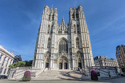 Photograph - Brussells Cathedral by Jemmy Archer