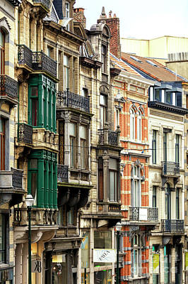Photograph - Brussels Architecture Style by John Rizzuto