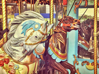 Photograph - Bryant Park Carrousel by JAMART Photography