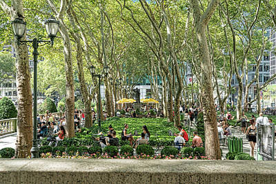 Photograph - Bryant Park by Sharon Popek