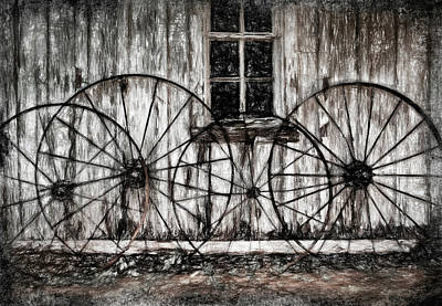 Photograph - Wheels and Wood 1615 by Barry Styles