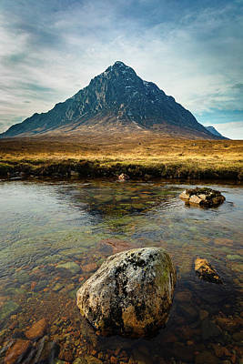 Photograph - Buachaille Etive Mor from the River Coupall by Diarmid Weir