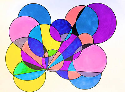 Garden Fruits - Bubbles Series 617 by Abstracts By Debera