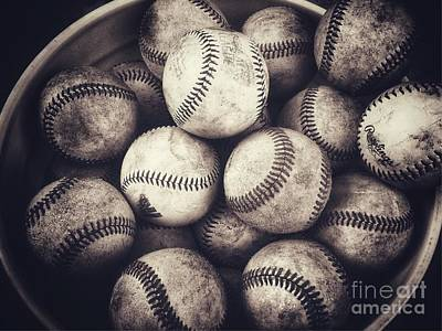Photograph - Bucket Of Baseballs by Leah McPhail