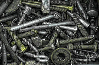 Photograph - Bucket Of Bolts by Randy J Heath