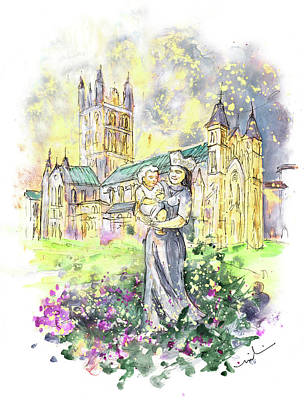 Painting - Buckfast Abbey by Miki De Goodaboom