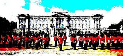 Mixed Media Royalty Free Images - Buckingham Palace Guard Royalty-Free Image by David Ridley