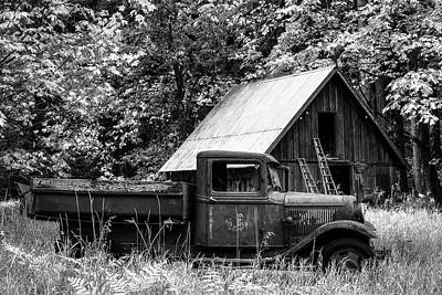 Photograph - Buckner Orchard In Black And White by Mark Kiver