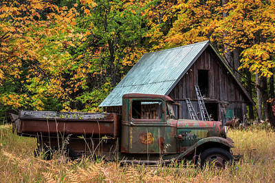 Old Truck Wall Art - Photograph - Buckner Orchard by Mark Kiver