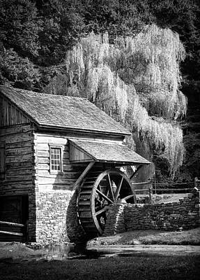 Photograph - Bucks County Mill In Black And White by Carolyn Derstine