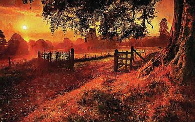 Painting - Bucolic Paradise - 24 by Andrea Mazzocchetti