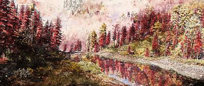 Painting - Bucolic Paradise - 25 by Andrea Mazzocchetti