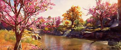 Painting - Bucolic Paradise - 32 by Andrea Mazzocchetti