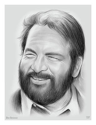 Line Drawing Quibe - Bud Spencer by Greg Joens