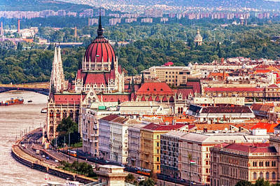 Photograph - Budapest On The Danube by Kay Brewer