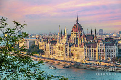 Parliament Wall Art - Photograph - Budapest Parliament At Sunset by Delphimages Photo Creations
