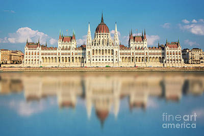 Parliament Wall Art - Photograph - Budapest Parliament, Hungary by Delphimages Photo Creations