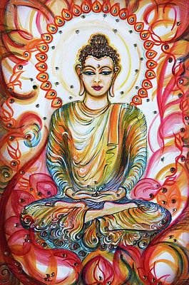Painting - Buddha - Enlightened  by Harsh Malik