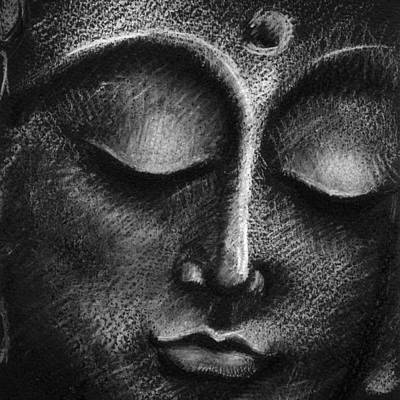 Eyes Closed Photograph - Buddha Face by Mammuth