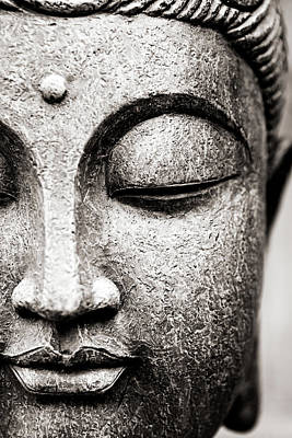 Close Up Photograph - Buddha Face by Maodesign