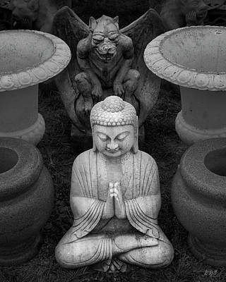 Photograph - Buddha Iv Bw by David Gordon