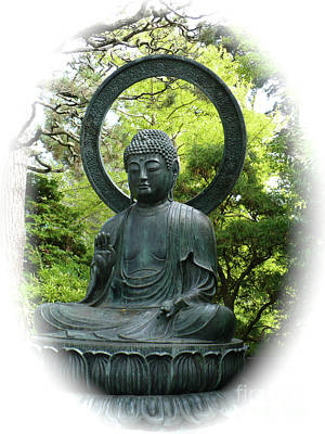 Photograph - Buddha Statue In Green by Carol Groenen